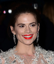 Hayley Atwell arriving at the London Evening Standard Theatre Awards in London, Sunday, 17th November 2013. Picture by Nils Jorgensen / i-Images