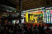 Sai Yong Hong Chinese Opera Troupe gives a performance in the Charoen Krung district of Bangkok.