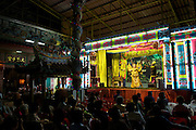 Sai Yong Hong Chinese Opera Troupe gives a performance in the Charoen Krung district of Bangkok.