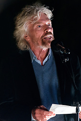 © Licensed to London News Pictures. 23/10/2017. London, UK. SIR RICHARD BRANSON makes a speech at the Walk Together event in memory of Nelson Mandela. Photo credit: Ray Tang/LNP