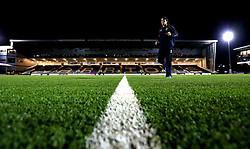 A general view of Sixways Stadium, home of Worcester Warriors, ahead of the Aviva Premiership fixture with Northampton Saints as Donncha O'Callaghan of Worcester Warriors runs back into the changing rooms - Mandatory by-line: Robbie Stephenson/JMP - 18/11/2016 - RUGBY - Sixways Stadium - Worcester, England - Worcester Warriors v Northampton Saints - Aviva Premiership