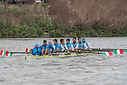 Hammersmith, GREATER LONDON. United Kingdom Cambridge University  Boat  Club, Pre Boat Race Fixture CUBC vs ITA M8+ for the 2017 Boat Race The Championship Course, Putney to Mortlake on the River Thames.<br />