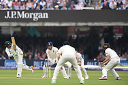 Azhar Ali of Pakistan clips through the close field on DAy Two of the NatWest Test Match match at Lord's, London<br /> Picture by Simon Dael/Focus Images Ltd 07866 555979<br /> 25/05/2018