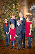 16-12-2015 BRUSSELS  - Philippe King Philip and Queen Mathilde with their children Princess Elisabeth , Prince Gabriel , Prince Emmanuel and Princess &Eacute;l&eacute;onore  offer the traditional Christmas concert in the Royal of Palace of Brussels. The King and Queen wishes in particular to thank the people who have contributed to the smooth running of the Royal activities in 2015. On the program is the Messiah by GF Haendel. The concert will be accompanied by the Concert d'Anvers and the Flemish Radio Choir led by Bart van Reyn along with soloists from the Queen Elisabeth Music Chapel. COPYRIGHT ROBIN UTRECHT<br /> 16-12-2015 BRUSSEL - Philippe koning Filip en Koningin Mathilde met hun kinderen van de Prinses Elisabeth, Prins Gabri&euml;l, Prins Emmanuel en Prinses &Eacute;l&eacute;onore bieden de traditionele kerst concert in het Koninklijk Paleis van Brussel. De koning en de koningin wil in het bijzonder aan de mensen die in 2015 hebben bijgedragen aan de goede werking van de Koninklijke activiteiten op het programma is de Messiah van GF Haendel bedanken. Het concert zal worden begeleid door het Concert d'Anvers en het Vlaams Radio Koor onder leiding van Bart van Reyn samen met solisten van de Muziekkapel Koningin Elisabeth. COPYRIGHT ROBIN UTRECHT