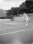30/08/1952<br /> 08/30/1952<br /> 30 August 1952<br /> Tennis - Irish National Junior Championships at Fitzwilliam Tennis Club, Appian Way, Dublin. Jim Buckley, Xaviers School, Dublin, Irish Junior Tennis Champion.