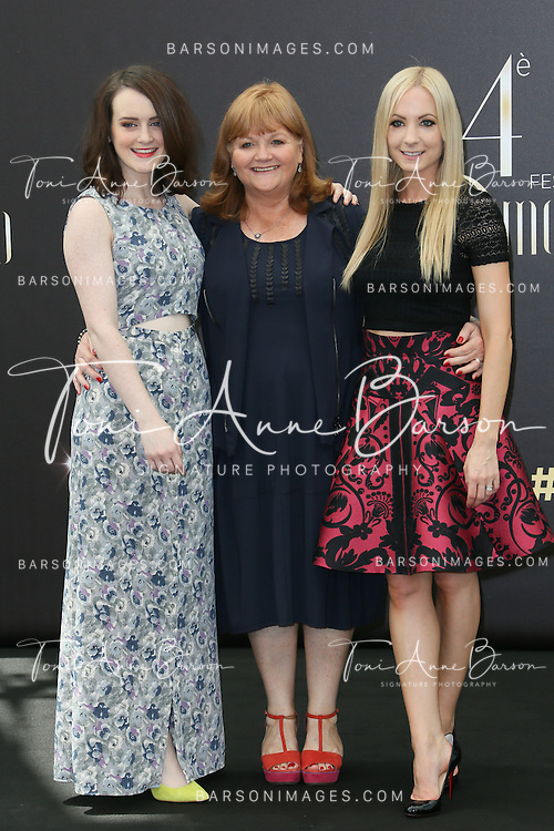 "MONTE-CARLO, MONACO - JUNE 11:  Sophie McShera, Lesley Nicol and Joanne Froggat  attend ""Downton Abbey"" photocall at the Grimaldi Forum on June 11, 2014 in Monte-Carlo, Monaco.  (Photo by Tony Barson/FilmMagic)"