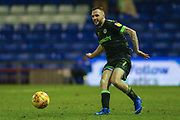 Forest Green Rovers Carl Winchester(7) passes the ball forward during the EFL Sky Bet League 2 match between Oldham Athletic and Forest Green Rovers at Boundary Park, Oldham, England on 12 January 2019.
