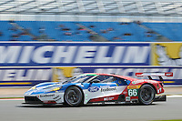 William Johnson (USA) / Stefan Mucke (DUE) / Olivier Pla (FRA) #66 Ford Chip Ganassi Racing Team UK Ford GT, during during the first hour or the race  as part of the WEC 6 Hours of Silverstone 2016 at Silverstone, Towcester, Northamptonshire, United Kingdom. April 17 2016. World Copyright Peter Taylor.