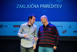 Grega Zemlja and Andrej Krasevec at Slovenian Tennis personality of the year 2016 annual awards presented by Slovene Tennis Association Tenis Slovenija, on December 7, 2016 in Siti Teater, Ljubljana, Slovenia. Photo by Vid Ponikvar / Sportida