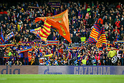 Barcelona fans at the end of the match during the Champions League semi-final leg 1 of 2 match between Barcelona and Liverpool at Camp Nou, Barcelona, Spain on 1 May 2019.