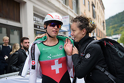 Marlen Reusser after the UCI Road World Championships Elite Women's Individual Time Trial 2017 a 21.1 km time trial in Bergen, Norway on September 19, 2017. (Photo by Sean Robinson/Velofocus)
