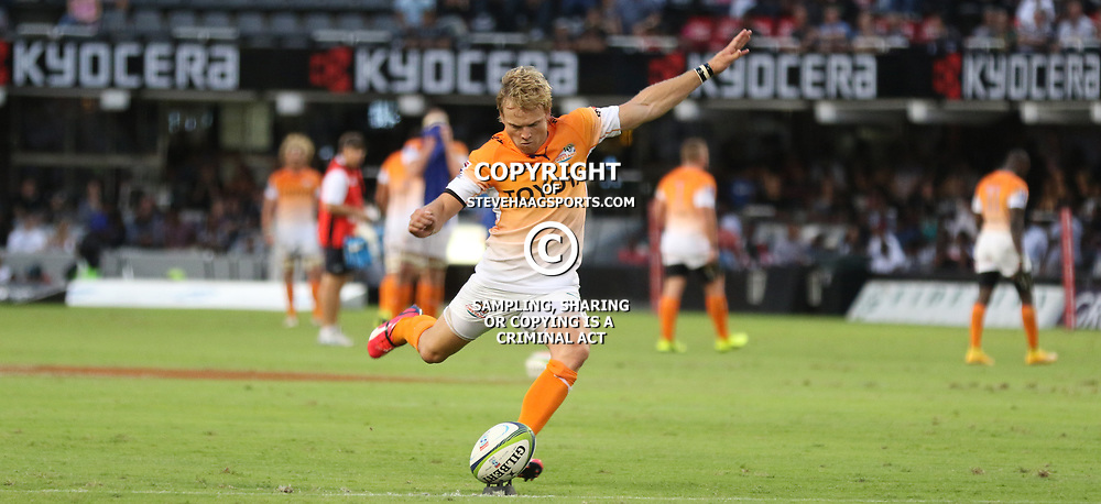 DURBAN, SOUTH AFRICA - FEBRUARY 14: Joe Petersen of the Cheetahs during the Super Rugby match between Cell C Sharks and Toyota Cheetahs at Growthpoint Kings Park on February 14, 2015 in Durban, South Africa. (Photo by Steve Haag/Gallo Images)