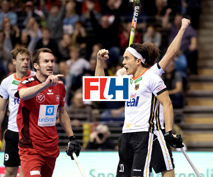 BERLIN - Indoor Hockey World Cup<br /> Quarterfinal 3: Germany - Switzerland<br /> foto: Dan Nguyen.<br /> WORLDSPORTPICS COPYRIGHT FRANK UIJLENBROEK