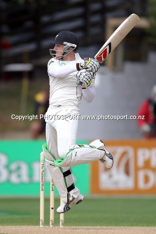 Brendon McCullum batting.<br />Test Match Cricket. 1st test. Day 4.<br />New Zealand Black Caps versus Australia. Basin Reserve, Wellington, New Zealand. Monday 22 March 2010. Photo: Andrew Cornaga/PHOTOSPORT