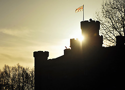 © Licensed to London News Pictures. 26/12/2016<br /> Chiddingstone Castle sunrise on Boxing Day,Kent.<br /> Photo credit :Grant Falvey/LNP