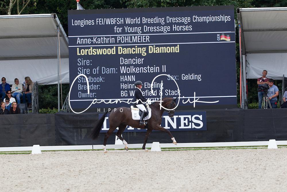 Pohlmeier Anne-Kathrin, GER, Lordswood Dancing Diamond<br /> World Championship Young Dressage Horses <br /> Ermelo 2016<br /> &copy; Hippo Foto - Leanjo De Koster<br /> 30/07/16
