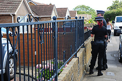 © Licensed to London News Pictures. 31/07/2018<br /> KEMSLEY, UK.<br /> A man has been arrested on suspicion of murder after a woman's body is found at a property in Hurst Lane, Kemsley near Sittingbourne. Police had to smash a window to get access to the property, police are on scene. <br /> Photo credit: Grant Falvey/LNP