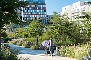 Boulogne-Billancourt, parc quartier Rives de Seine