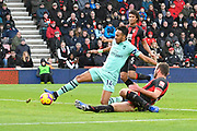 Goal - Pierre-Emerick Aubameyang (14) of Arsenal scores the winning goal to make the score 1-2 during the Premier League match between Bournemouth and Arsenal at the Vitality Stadium, Bournemouth, England on 25 November 2018.