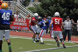 16 June 2018: Shriner All Star Football game on Wilder Field in Tucci Stadium in Bloomington Illinois<br /> #ShrinerAllStarFootball