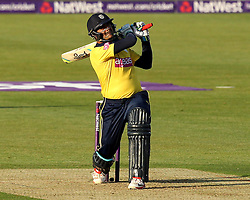 Hampshire's Owais Shah bats on his way to a half century - Photo mandatory by-line: Robbie Stephenson/JMP - Mobile: 07966 386802 - 04/06/2015 - SPORT - Cricket - Southampton - The Ageas Bowl - Hampshire v Middlesex - Natwest T20 Blast
