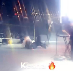 "EXCLUSIVE: ** NO USA TV AND NO USA WEB ** Kesha hit the ground hard Friday night, but made a super professional recovery. The singer was performing at the RedfestDXB Dubai Festival at the Media City Amphitheater when she took the tumble. She was performing ""We R Who We R"" and lost her balance. Check out the video ... she doesn't miss a beat and stands up almost immediately. Kesha's killing it with one of the most spectacular rebounds in memory ...this after her brutal battle with Dr. Luke over her claims he raped her, among other things ... something he denies. She actually won props from the crowd ... works every time!. 11 Feb 2018 Pictured: Kesha. Photo credit: TMZ/MEGA TheMegaAgency.com +1 888 505 6342"