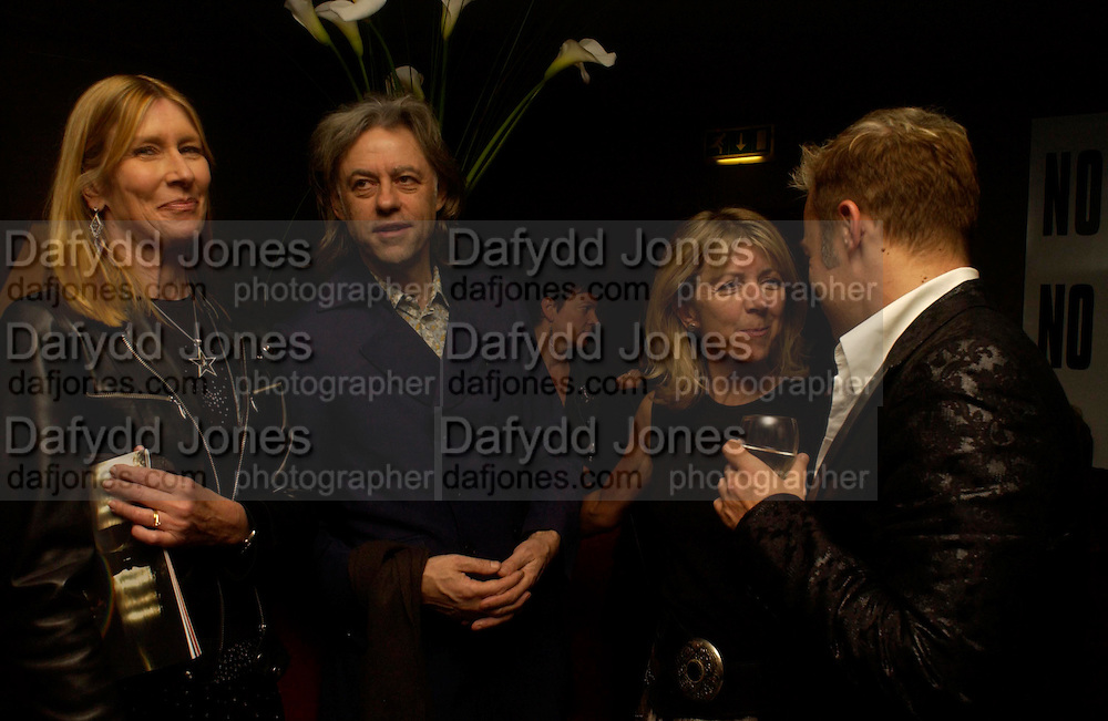 Lady Carina Frost, Sir Bob Geldof, Marsha Fitzalen Howard and Graham Norton. Billy Elliot- The Musical opening night at the Victoria palace theatre and party afterwards at Pacha, London. 12 May 2005. ONE TIME USE ONLY - DO NOT ARCHIVE  © Copyright Photograph by Dafydd Jones 66 Stockwell Park Rd. London SW9 0DA Tel 020 7733 0108 www.dafjones.com