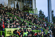 The East stand during the EFL Sky Bet League 2 match between Forest Green Rovers and Scunthorpe United at the New Lawn, Forest Green, United Kingdom on 7 December 2019.