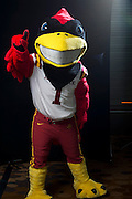 DALLAS, TX - JULY 22:  Iowa State mascot Cy the Cardinal poses for a portrait during the Big 12 Media Day on July 22, 2014 at the Omni Hotel in Dallas, Texas.  (Photo by Cooper Neill/Getty Images) *** Local Caption *** Cy the Cardinal