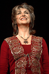Playing to a south Yorkshire home crowd Doncaster Diva Lesley Garrett performs live on stage at the Sheffield City Hall<br /> <br /> Copyright Paul David Drabble<br /> <br /> 21 March 2003