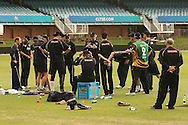 The Central Stags team talk before practice during the Central Stags training session held at St Georges Park in Port Elizabeth on the 17 September 2010..Photo by: Shaun Roy/SPORTZPICS/CLT20