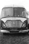 Front of vintage bus, Exodus Free Festival, 1997.