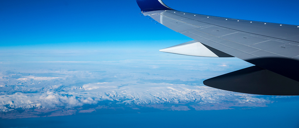 Generic image of aeroplane in flight over Iceland