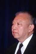 WASHINGTON, DC - September 11: C. H. Tung, Chinese appointed head of Hong Kong at a press conference in Washington, DC. September 11, 1997  (Photo RIchard Ellis)