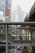 Sukhumvit. View from a Skytrain station.