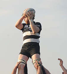 Ballinrobe&rsquo;s Dave Madden gets up to claim lineout posession during the junior cup match.<br />Pic Conor McKeown