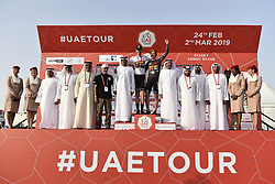 February 24, 2019 - Abu Dhabi, Emirati Arabi Uniti, Emirati Arabi Uniti - Foto LaPresse - Fabio Ferrari.24 Febbraio 2019 Abu Dhabi (Emirati Arabi Uniti).Sport Ciclismo.UAE Tour 2019 - Tappa 1 - Da Al Hudayriat Island a Al Hudayriat Island - Crono squadre 16 km.Nella foto: maglia nera by Abu Dhabi Aviation (Intermediate Sprint Jersey Classification) - Primoz Roglic (Team Jumbo - Visma) ..Photo LaPresse - Fabio Ferrari.February 24, 2019 Abu Dhabi (United Arab Emirates) .Sport Cycling.UAE Tour 2019 - Stage 1 - From Al Hudayriat Island to Al Hudayriat Island - TTT 9,9 miles.In the pic: he Black Jersey, sponsored by Abu Dhabi Aviation (Intermediate Sprint Jersey Classification) - Primoz Roglic  (Credit Image: © Fabio Ferrari/Lapresse via ZUMA Press)