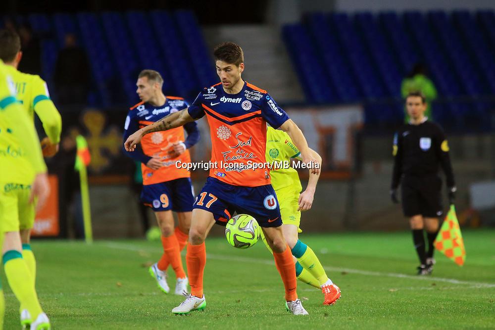 Paul LASNE  - 24.01.2015 - Montpellier / Nantes  - 22eme journee de Ligue1<br />Photo : Nicolas Guyonnet / Icon Sport