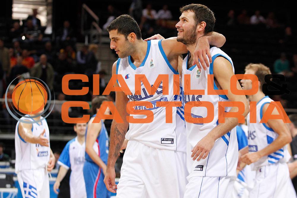 DESCRIZIONE : Kaunas Lithuania Lituania Eurobasket Men 2011 Classification Games for 5th to 8th Place Round Grecia Serbia Greece Serbia<br /> GIOCATORE : Ioannis Bouroussis Antonios Fotsis<br /> SQUADRA : Grecia Greece<br /> EVENTO : Eurobasket Men 2011<br /> GARA : Grecia Serbia Greece Serbia<br /> DATA : 16/09/2011 <br /> CATEGORIA : esultanza jubilation<br /> SPORT : Pallacanestro <br /> AUTORE : Agenzia Ciamillo-Castoria/M.Metlas<br /> Galleria : Eurobasket Men 2011 <br /> Fotonotizia : Kaunas Lithuania Lituania Eurobasket Men 2011 Classification Games for 5th to 8th Place Round Grecia Serbia Greece Serbia<br /> Predefinita :