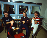 The Jam - Bruce Foxton, Rick Buckler, Paul Weller backstage at Top of the Pops 1981