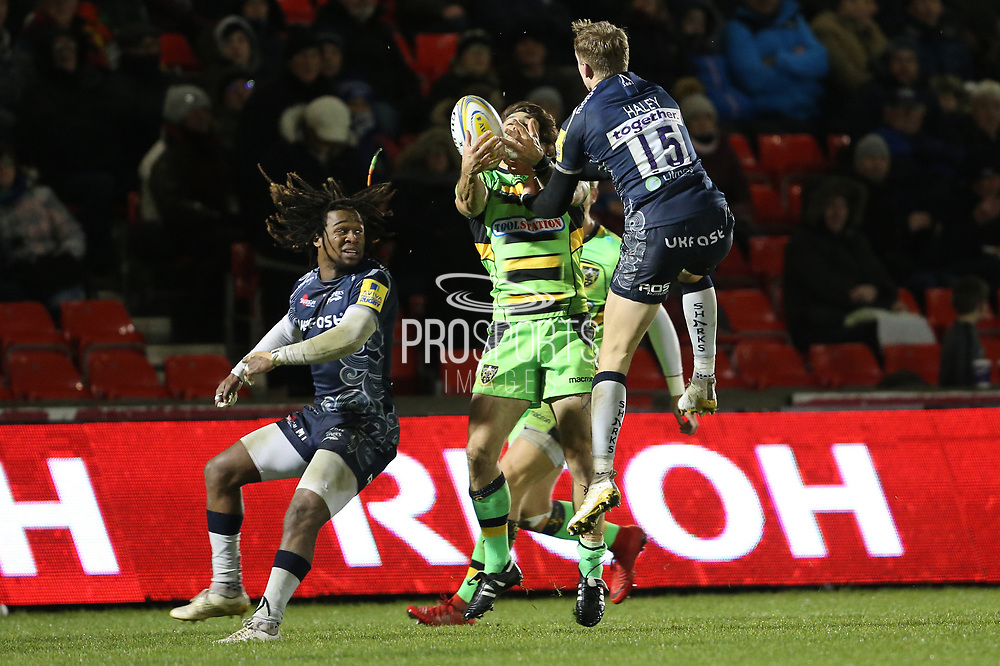 Mike Haley during the Aviva Premiership match between Sale Sharks and Northampton Saints at the AJ Bell Stadium, Eccles, United Kingdom on 25 November 2017. Photo by George Franks.