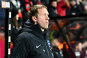 Brighton and Hove Albion manager Graham Potter during the Premier League match between Bournemouth and Brighton and Hove Albion at the Vitality Stadium, Bournemouth, England on 21 January 2020.