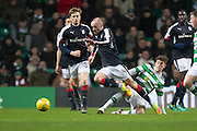 Celtic's Ryan Christie brings down Dundee's James Vincent - Celtic v Dundee in the Ladbrokes Scottish Premiership at Celtic Park, Glasgow. Photo: David Young<br /> <br />  - © David Young - www.davidyoungphoto.co.uk - email: davidyoungphoto@gmail.com