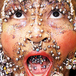 Elaine Davidson, most pierced woman in the world.
