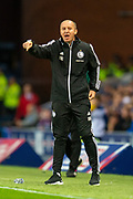 Legia Warsaw manager, Aleksandar Vukovic during the Europa League Play Off leg 2 of 2 match between Rangers FC and Legia Warsaw at Ibrox Stadium, Glasgow, Scotland on 29 August 2019.