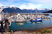 Alaska, Haines. Small boat harbor in Chilcoot Inlet.