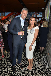 JESSICA ENNIS-HILL and MARK FOSTER at the OMEGA 100 days to Rio Olympics VIP Dinner at Sushi Samba, Heron Tower, 110 Bishopsgate, City of London on 27th April 2016.