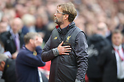 Liverpool Manager Jurgen Klopp during the Premier League match between Liverpool and Southampton at Anfield, Liverpool, England on 22 September 2018.