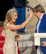 Amsterdam  , 23-05-2017 <br /> <br /> King Willem-Alexander and Queen Maxima, Princess Beatrix and Princess Margriet and Professor Mr Pieter van Vollenhoven attend a dinner for the Corps Diplomatic at the Royal Palace of Amsterdam.<br /> <br /> PUBLICATION ONLY IN FRANCE<br /> <br /> COPYRIGHT: ROYALPORTRAITS EUROPE/ BERNARD RUEBSAMEN
