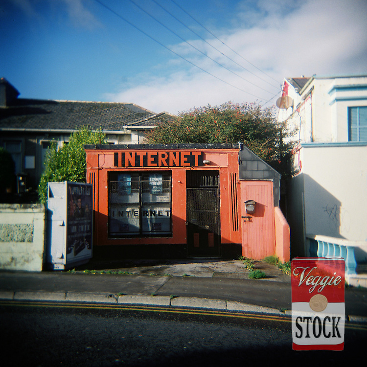 Internet cafe in Galway, Ireland, October 2009.